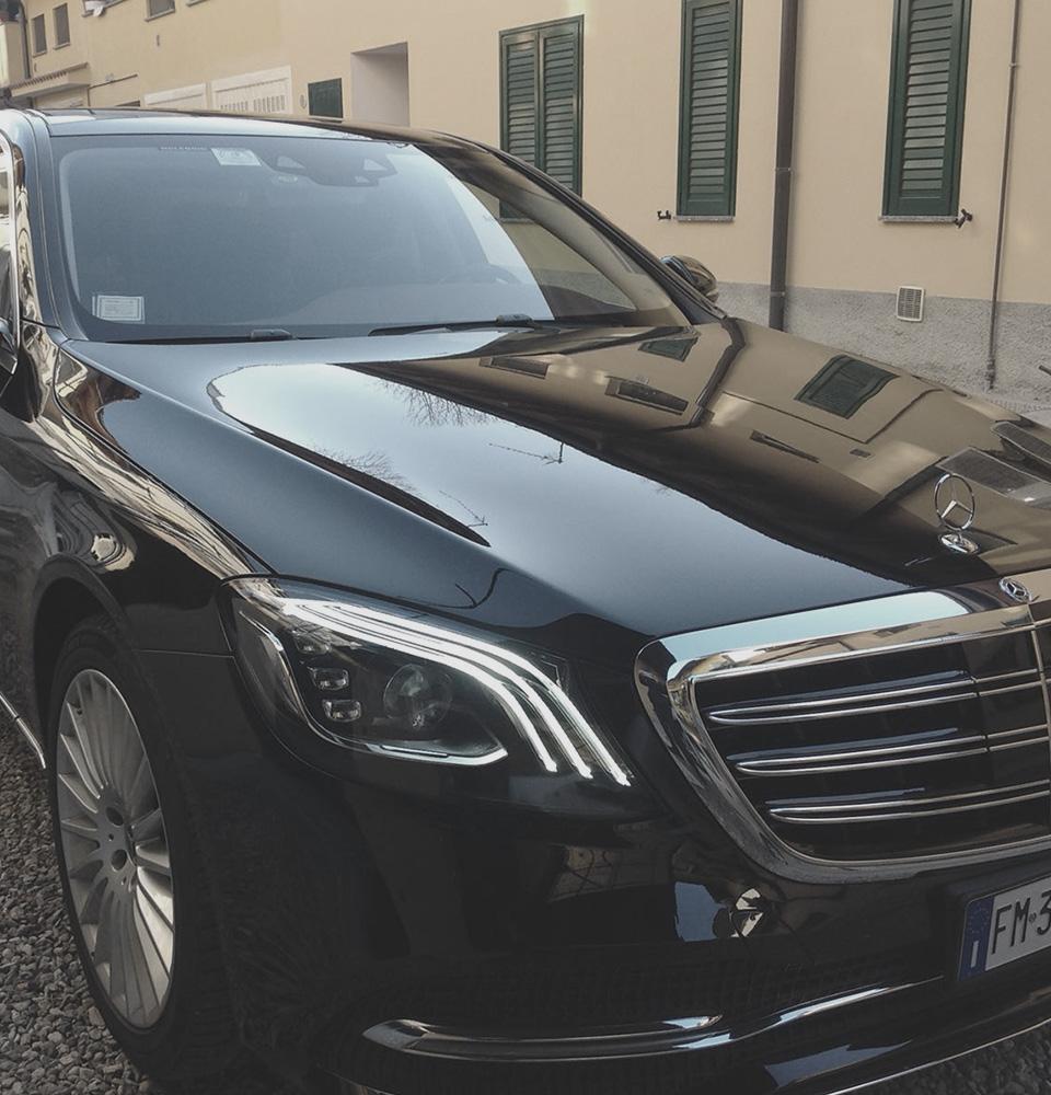 Mercedes Classe S passo lungo NCC Milano Malpensa ICare Limo